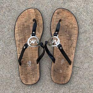 Michael Kora Cork Flip Flops
